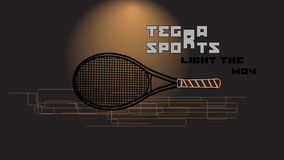 Tennis racket and slogan Royalty Free Stock Images
