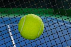 Tennis racket sweet spot Royalty Free Stock Photo