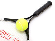 Tennis racket and  tennis ball Royalty Free Stock Photos