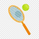 Tennis racket with a tennis ball isometric icon Stock Photos