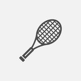 Tennis racket vector icon. On grey background stock illustration