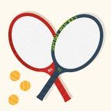 Tennis racket vector illustration. Royalty Free Stock Photography