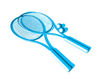 Tennis rackets Stock Photos
