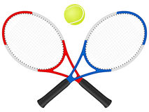 Tennis rackets and ball Royalty Free Stock Images