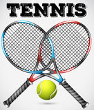 Tennis rackets and ball Royalty Free Stock Image