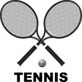 Tennis rackets and ball Royalty Free Stock Photography