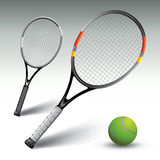 Tennis rackets Royalty Free Stock Photos