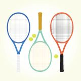 Tennis rackets and balls Royalty Free Stock Images