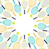 Tennis rackets and balls Royalty Free Stock Image