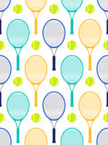 Tennis rackets and balls. Seamless pattern with tennis rackets and balls.Vector illustration Stock Photography