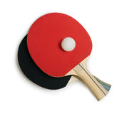 Tennis rackets for ping pong white  Stock Images