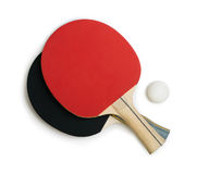 Tennis rackets for ping pong white isolated Stock Images