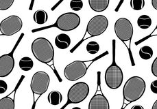 Tennis rackets seamless background Royalty Free Stock Photos