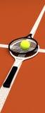 Tennis; rackets; sphere; ground. Royalty Free Stock Photos