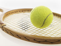 Tennis racquet and ball Stock Image