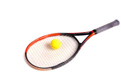 Tennis. Racquet and ball isolated Stock Photography