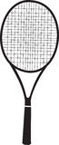 Tennis racquet black silhouette Royalty Free Stock Photos