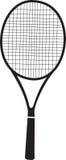 Tennis racquet black silhouette Royalty Free Stock Photos