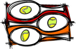 Tennis Racquet Images Vector. Vector Illustrations of Tennis Racquettes Stock Images