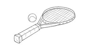 Tennis racquet Stock Photography