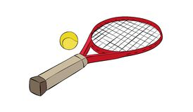 Tennis racquet Stock Photos