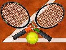 Tennis racquets Royalty Free Stock Photo