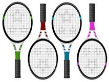 Tennis racquets Stock Images
