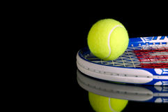 Tennis racquets and ball Royalty Free Stock Photo