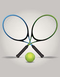 Tennis Racquets and Ball Illustration Stock Images