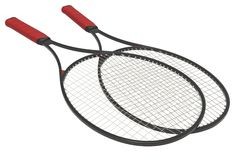 Tennis racquets - Black Royalty Free Stock Image