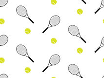 Tennis Raquet and Ball Seamless Pattern 1 Royalty Free Stock Photography