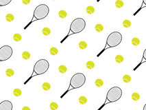 Tennis Raquet and Ball Seamless Pattern 2 Royalty Free Stock Image