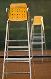 Tennis referee chair. Photo of tennis referee chairs Royalty Free Stock Image