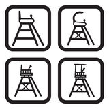 Tennis referee chair icon in four variations.  Stock Photography