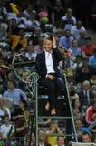 Tennis referee, chair umpire Stock Image