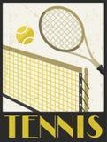 Tennis. Retro poster in flat design style Stock Photo