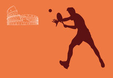 Tennis in Rome illustration royalty free illustration