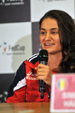 Tennis rumeno Monica Niculescu durante il conferenc della stampa Fotografia Stock