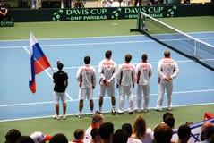 tennis russe d'équipe de davis de 2009 cuvettes Image libre de droits