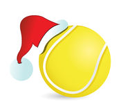 Tennis Santa Cap Royalty Free Stock Photography