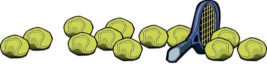 Tennis-Schläger und Kugeln Lizenzfreie Stockfotos