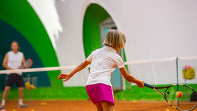 Tennis school Royalty Free Stock Images