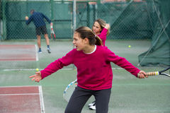 Tennis school Royalty Free Stock Image