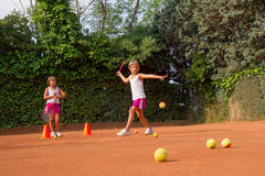 Tennis school Royalty Free Stock Photos