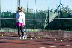 Tennis school outdoor Royalty Free Stock Photo