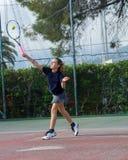 Tennis school outdoor Stock Images