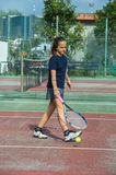 Tennis school outdoor Royalty Free Stock Photography