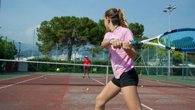 Tennis school outdoor Royalty Free Stock Images