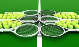 Tennis school. Royalty Free Stock Photography