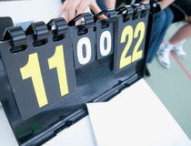 Tennis score board. Close up Royalty Free Stock Photo